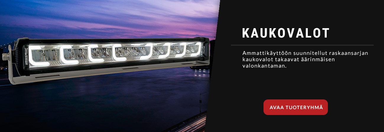 Ammattikäyttöön suunnitellut LED kaukovalot.